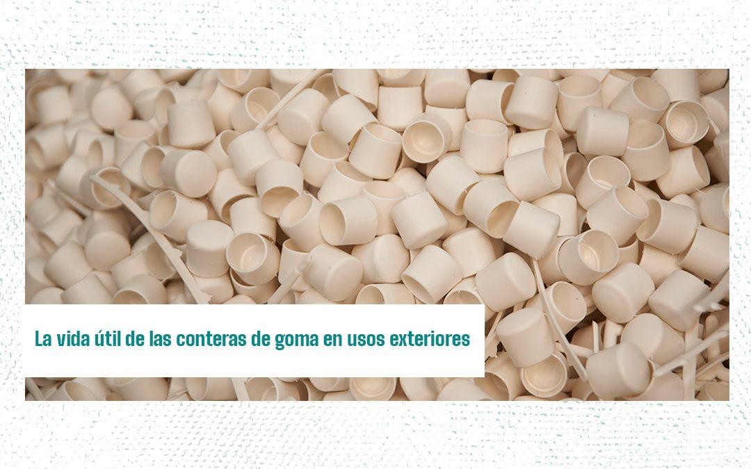 La vida útil de las conteras de goma en usos exteriores