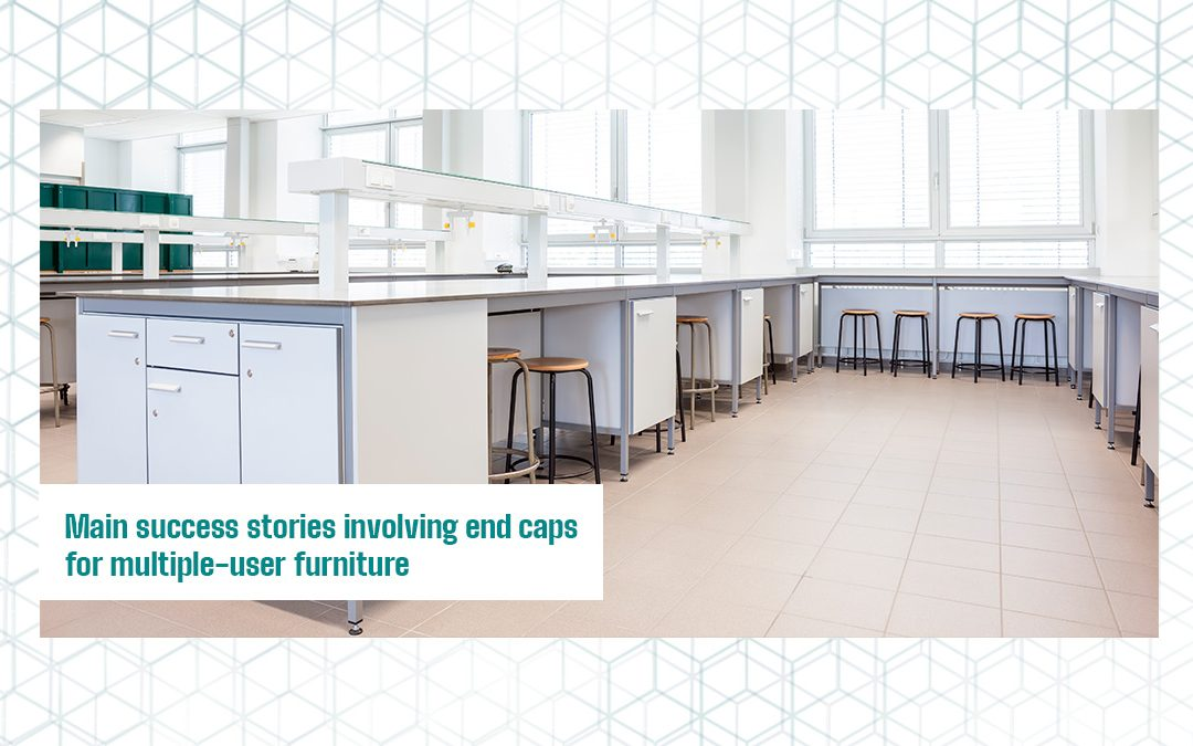 Main success stories involving end caps for multiple-user furniture