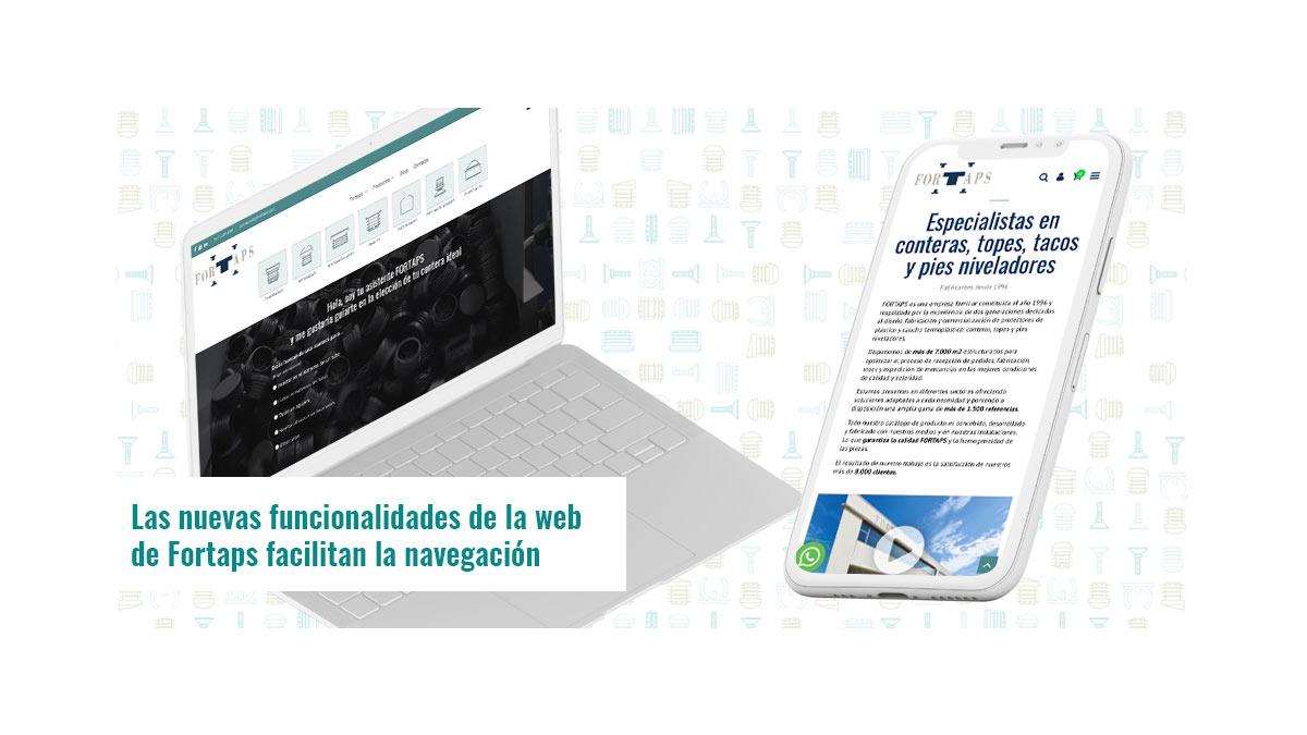 Las nuevas funcionalidades de la web de Fortaps facilitan la navegación