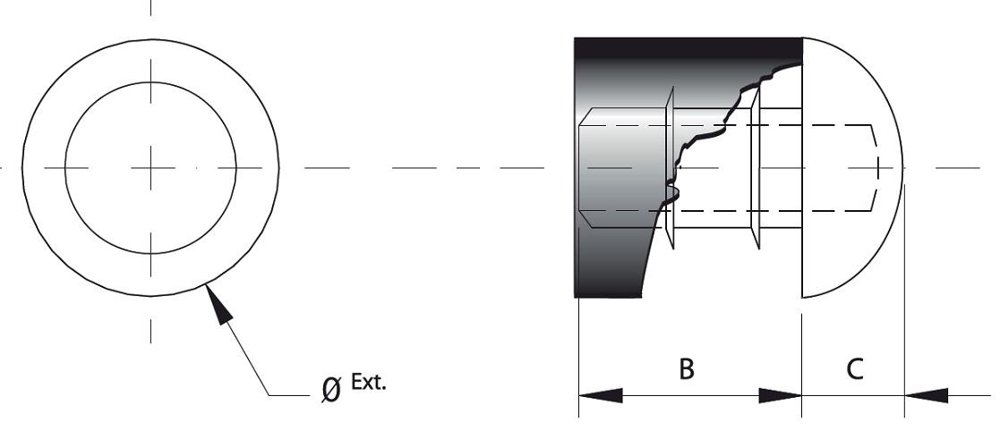 SNAP-IN SEMISPHERICAL BUMPER