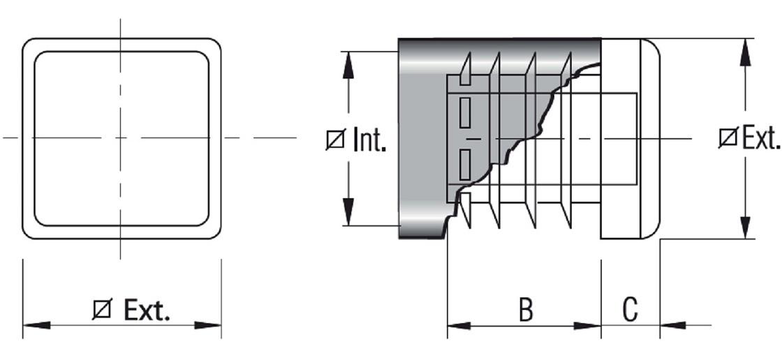 RIBBEDINSERT FOR STRUCTURAL TUBE