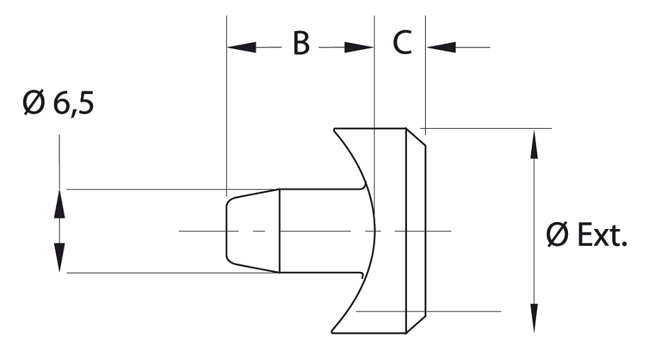 SNAP-IN FOR ROUND TUBE