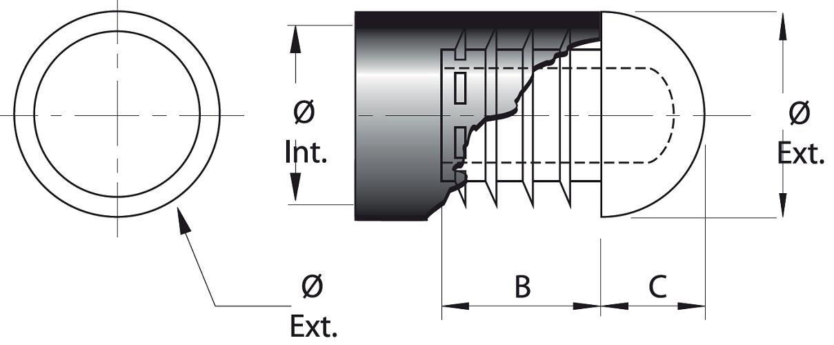 LIGHTWEIGHT SEMISPHERICAL INSERT